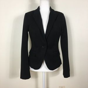 Express Black One Button Close Blazer Jacket
